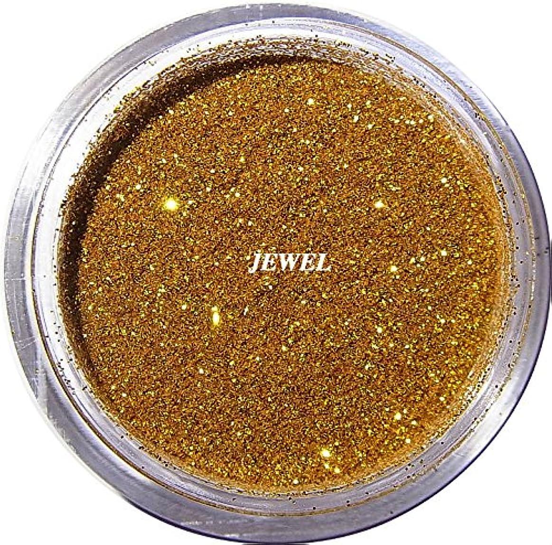 奨学金名目上の弱める【jewel】 超微粒子ラメパウダー(金/ゴールド) 256/1サイズ 2g入り レジン&ネイル用 グリッター