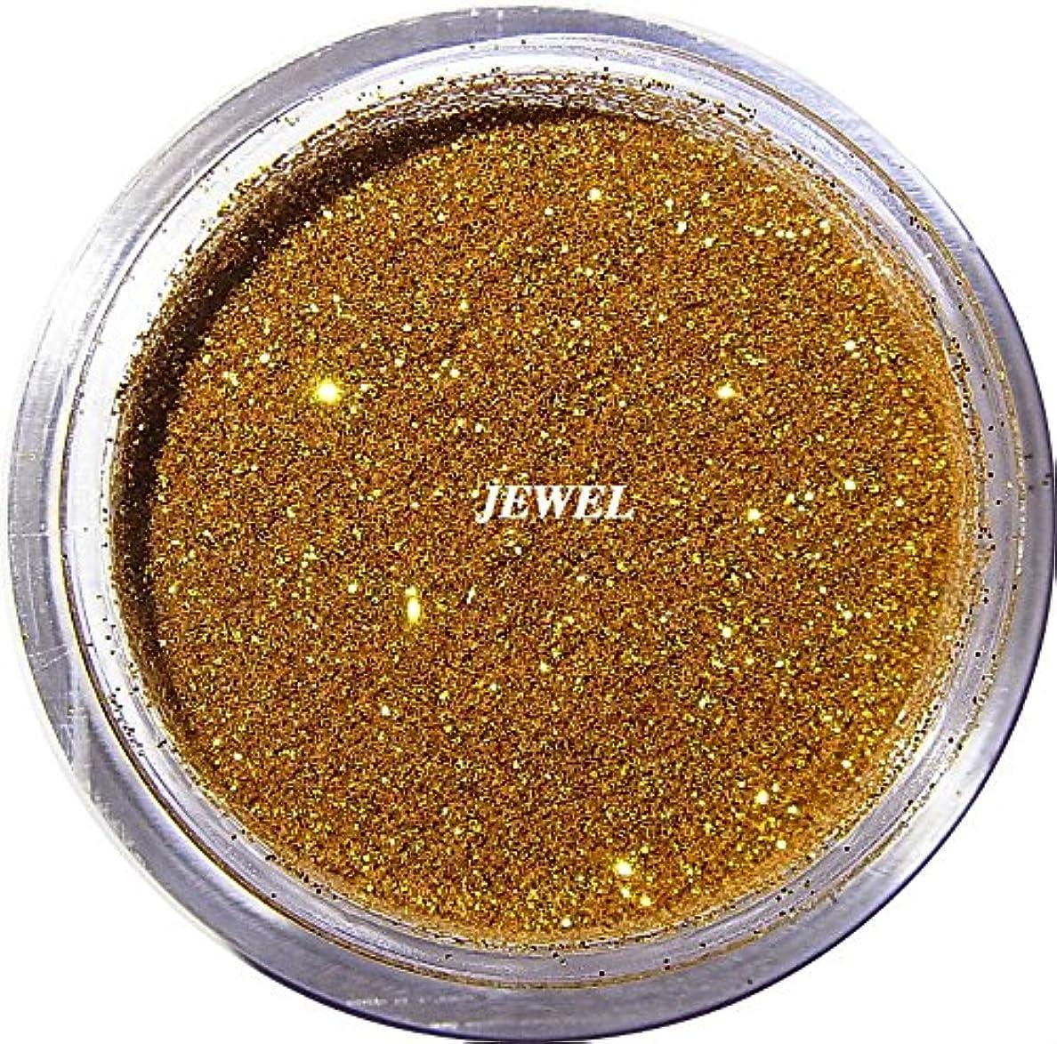 ミュージカルハンドブック盆地【jewel】 超微粒子ラメパウダーたっぷり2g入り 12色から選択可能 レジン&ネイル用 (ゴールド)