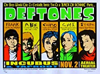 Deftones Poster w/Incubus & Taproot 2000 Concert RARE S/N by Jermaine