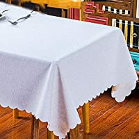 コットンとリネンのレースのテーブルクロス、防水および防油/お手入れが簡単テーブルカバー、台所の卓上ビュッフェの装飾に適して (色 : A, Size : 180x130ccm)