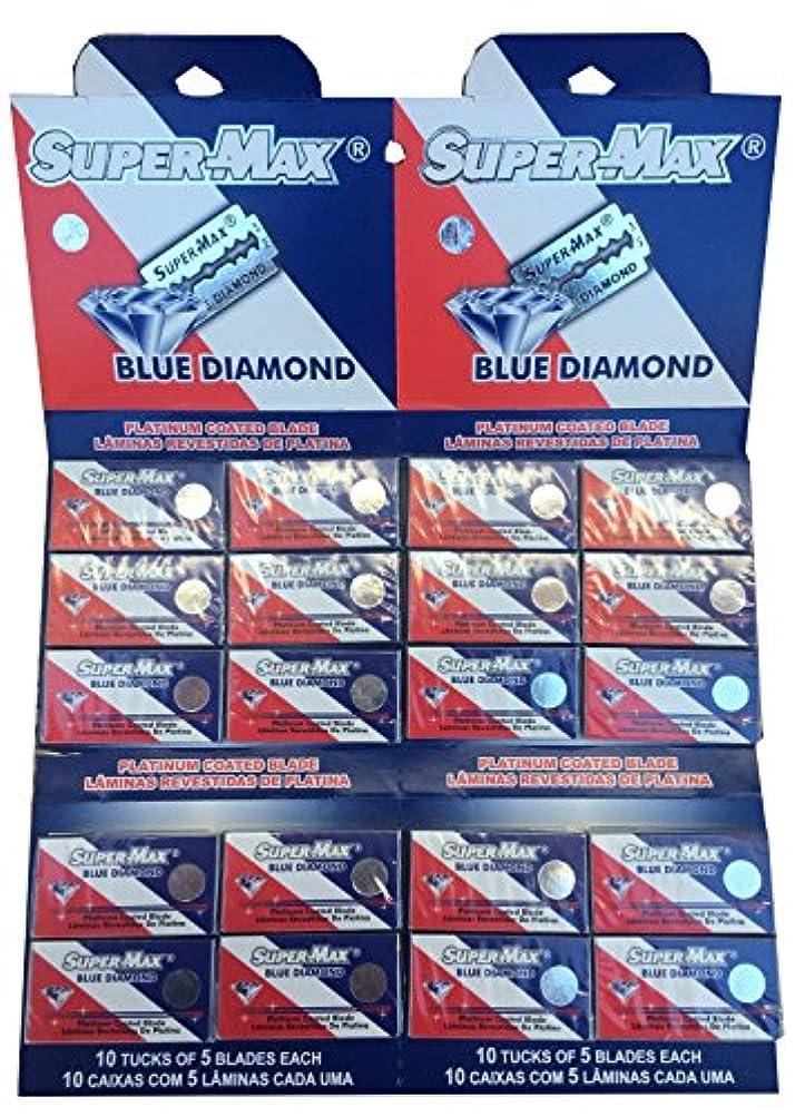 クラシカル届けるペットSuper-Max Blue Diamond 両刃替刃 100枚入り(5枚入り20 個セット)【並行輸入品】