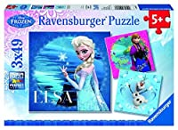 Ravensburger Disney Frozen Jigsaw Puzzle (3 x 49 Piece) [Floral] [並行輸入品]