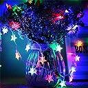イルミネーションライト星型 LEDストリングライト5M 電球数40 電池式 スターフェアリーライト結婚式 クリスマス パーティー誕生日 室内室外用 飾りライト (カラー)