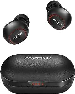 【T5進化版】Mpow M5 Bluetooth ワイヤレス イヤホン AAC/APT-X対応 レザー調 最大42時間再生 IPX7防水規格