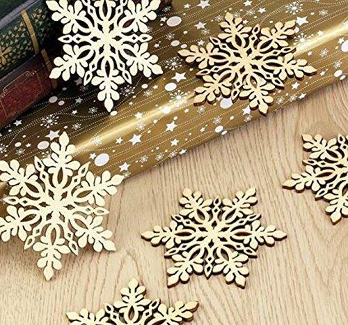クリスマスオーナメント ヨーロッパスタイル スノーフレーク 3枚セット カッ...