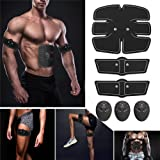 TopCrazy Muscle Toning Exercise Belt, Abdominal Toning Belt EMS ABS Toner Body Muscle Trainer Wireless Portable Unisex Fitnes