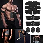 TopCrazy Muscle Toning Exercise Belt, Abdominal Toning Belt EMS ABS Toner Body Muscle Trainer Wireless Portable Unisex...