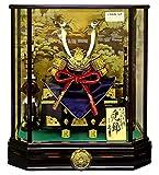五月人形 久月 兜ケース飾り 兜飾り 正絹赤糸縅 10号 取付ケース入 オルゴール付 h305-k-k51037 K-119