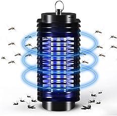 蚊取り器 吸引式 電撃殺虫灯 UV光源誘引式 ハエ 取り器 殺虫ライト 蚊ランプ殺虫灯 誘虫灯 蚊対策室内 吊り下げ 薬剤不要 省エネ機能付き