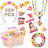 Barwa Set 550 PCS Pop Snap Beads Pop-Arty Bead Toy for Kids and Toddlers DIY Beads Toy Made Jewelry Necklaces Bracelets Rings