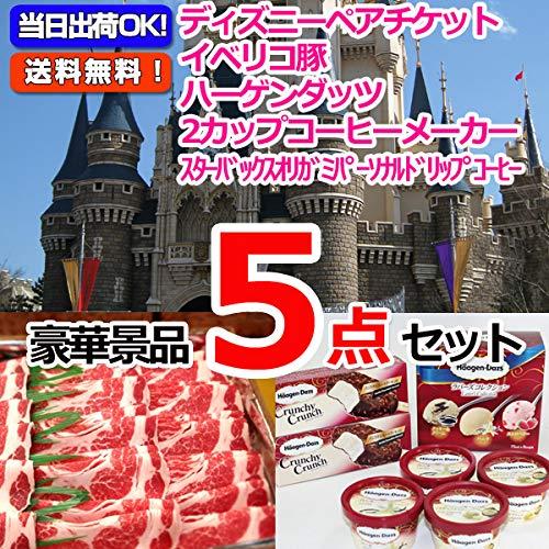 東京ディズニーリゾートペアチケット&イベリコ豚&ハーゲンダッツ他豪華5点セット 景品 二次会 ビンゴ
