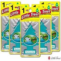 リトルツリー エアフレッシュナー5枚セット 【Rainforest Mist レインフォレストミスト】LittleTree /芳香剤/カーフレッシュナー