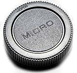 COCO Camera レンズ リア キャップ M4/3 マイクロ フォーサーズ 規格 ブラック 黒 (汎用品) オリンパス パナソニック