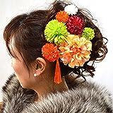 髪飾り 女性レディース選べる髪飾り8本セット 14タイプ/3(オレンジ)