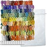 ウィーデル 刺繍糸 100色 100束 25番 8m × 6本 綴り 600本 糸巻 付き 刺繍 セット ( 100束 )