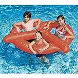 プレッツェル 3人用 浮き輪 浮輪 フロート プール 子供用 水遊び ウォーターフロート 遊具 海 エアーマット 直径154.9cm [並行輸入品]