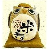 『長寿の祝いふくろう 米寿』 手作ちちぎり和紙細工 なごみの和雑貨