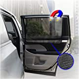 ggomaART Car Side Window Sun Shade - Universal Reversible Magnetic Curtain for Baby and Kids with Sun Protection Block Damage