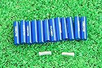 マイクロヒーロー  MicrOHERO 軽量 アルミ シフトアウターエンドキャップ 12個セット ブルー ワイヤーエンドキャップ2個付