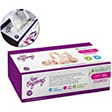 New Beginnings Ultra-Soft Dry Bamboo Baby Wipes for Delicate Skin, Eco-Friendly & Hypoallergenic, Box, 100 Pcs