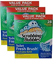 Scrubbing Bubbles Toilet Fresh Brush Flushable Refills (28 count, pack of 3)