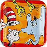 ドクタースース、プレート、パーティーグッズ、誕生日、8 Count Dr.Seuss 'I Love Read' Lunch Plates,Party Supplies, birthday