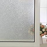 DuoFire 装飾再利用可能 無接着剤静電ペーストプライバシーガラスフィルム(窓 シャワー) 屈折光 (小さな格子, 0.9M X 2M)