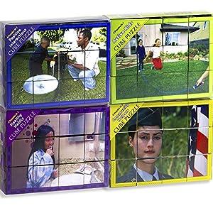 Stages Learning Real画像とマテリアル木製キューブ言語Builder Preschoolパズルパズル SLM952