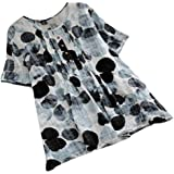 Howely Women Crew-Neck Short-Sleeve Print Summer Relaxed Tees Pullover Top