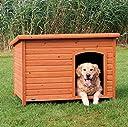 【ドイツTRIXIE】ドイツTRIXIE ドッグハウス屋外用犬小屋!TRIXIE ナチュラドッグケンネル フラットルーフ ブラウン L