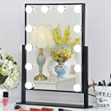 Vanity Mirror with Dimmable LED Bulbs, Hollywood Style Makeup Mirror with Lights for Touch Control Design, 3 Different Lighti