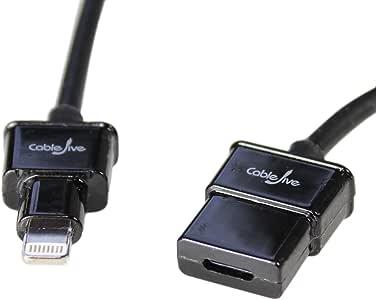 Lightning Xtender Cable ライトニングケーブル(ライトニング オス メス 延長ケーブル)60cm 黒