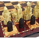 HPL 3 1/2インチ King Isle of Lewis Chess メンズセット 18インチ チェリーカラーボード付き