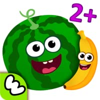 Funny Food - Educational Baby Game for Kids: Girls and Boys learn smart SHAPES & COLORS! PUZZLES for young children develop attention, logic! FREE education for toddlers 2 3 4 5 year olds! Kindergarten learning games for preschoolers in apps 4 babies