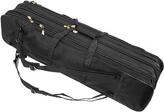 LIXADA ロッドケース フィッシングバッグ 釣りロッド ポータブル 大容量 釣り竿入れ 竿袋 80cm ブラック
