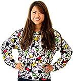 (ディズニー) Disney パーカー レディース 長袖 プルオーバー ミッキー 総柄 スウェット 3color L キナリ