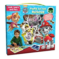 Nickelodeon PAW Patrol Look, Learn and Play: Pups to the Rescue: With Book and 16 Play Pieces to Fit into the Pages (Look Learn and Play)