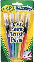 Crayola 546201 Washable No Drip Paint Brush (5 Count)