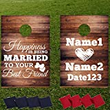 VictoryStoreカスタムウェディングバッグToss Game–カスタムウェディングCornhole–Happiness is being married to your best friend