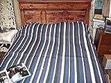 SWEET DREAMS HOME - Deluxe Hypoallergenic 100% Peruvian ALPACA Fleece Bedspread, QUEEN Size (94 W x 88 L inches - 230 Width x 225 Length Cm), Multi-colored Navyblue-purple-black-ivory; Organic, Handmade
