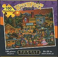 "Eric Dowdle Folk Art Puzzle Gardner Village Witch Fest 100 Pcs 16""x20"" Finished [並行輸入品]"