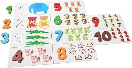 知育玩具 数 ナンバー 1-10 木のおもちゃ パズル123 数字 ゲーム 数 おもちゃ 算数 教育玩具 知育おもちゃ 学習玩具