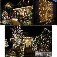 妖精の網のひもライト、純ライトクリスマスの屋外の防水誕生日の星空のひもの結婚式のクリスマスの装飾ライト - 白 6 * 4m