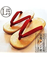 女性用 草履(ぞうり)赤鼻緒 サンド底 (22.5cm~23.5cm用)(u262)