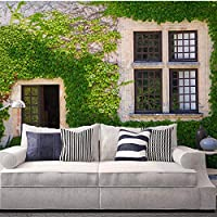 Ansyny カスタム写真壁紙3Dグリーンアイビー窓壁画壁画カフェレストラン寝室の背景壁の装飾-420X280cm