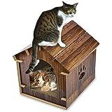 猫ハウス 小屋 キャットダンボールハウス 猫箱 猫爪とぎ ペットハウス 屋内屋外 組み立て式 収納簡単 通気