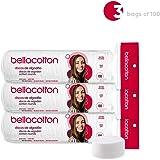 Bellacotton Premium Cotton Rounds, White, 100 Count (3 Packs)
