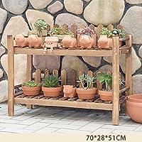 木製植物フラワーディスプレイスタンド木製ポットシェルフラック屋外屋内ランディング多層ポットホルダー (サイズ さいず : 2-90*28*51cm)