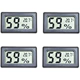 Eillet 4-Pack Small Thermometer Hygrometer, Digital Indoor Humidity Temperature Meter with LCD Display Temperature only in Ce