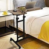 Overbed Table Rolling Laptop Table Over Bed Desk Lap Desk for Laptop Rolling Cart Tilting Overbed Bedside Table Overbed Desk